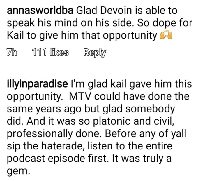 Kail Lowry and Devoin Austin of Teen Mom 2 on Instagram
