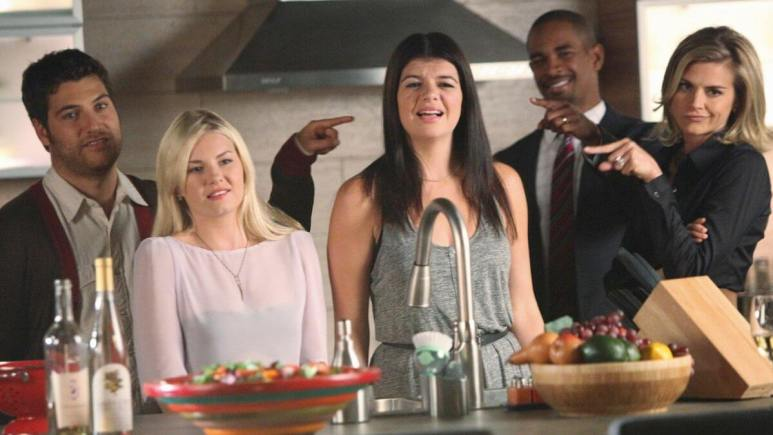 Production still from Happy Endings.