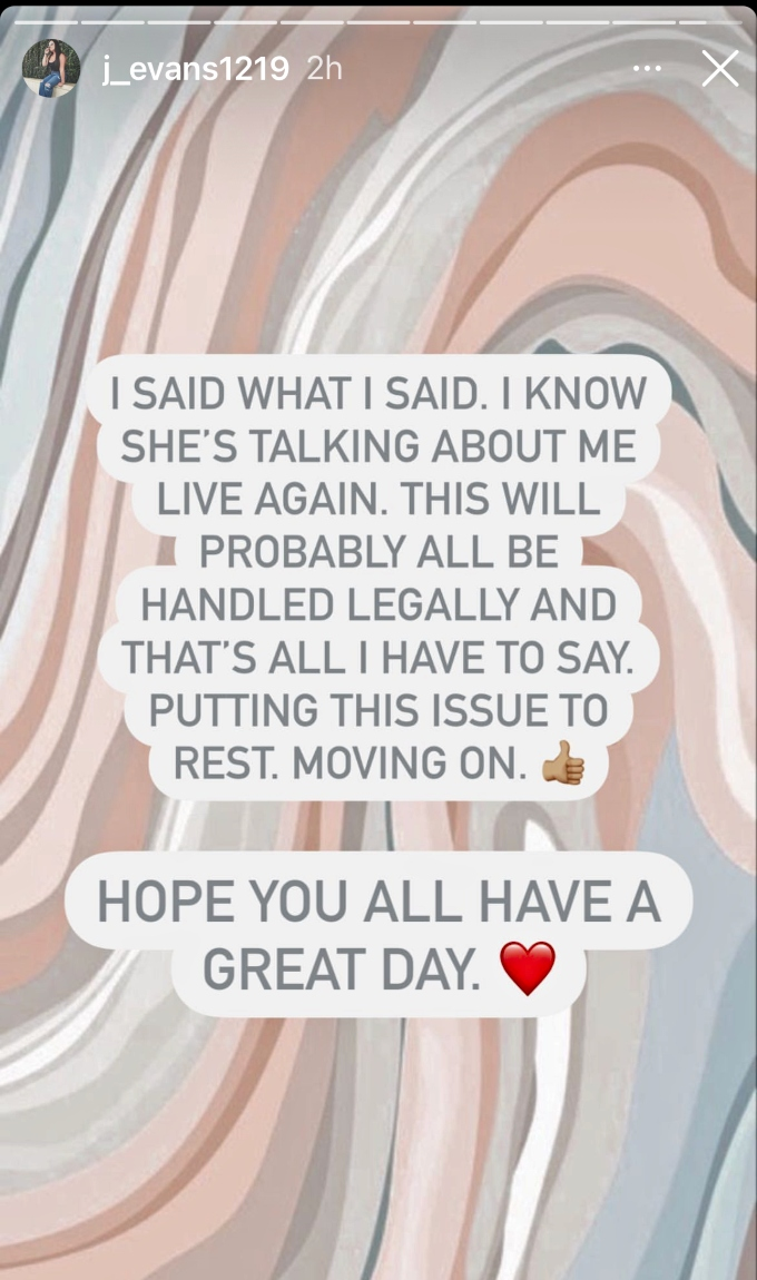 Jenelle Evans responds to Deavan Clegg's Live video