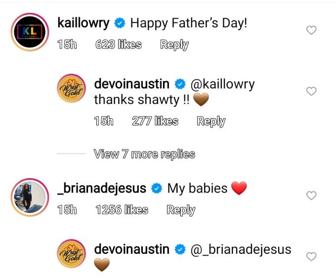 Devoin Austin of Teen Mom 2 on Instagram