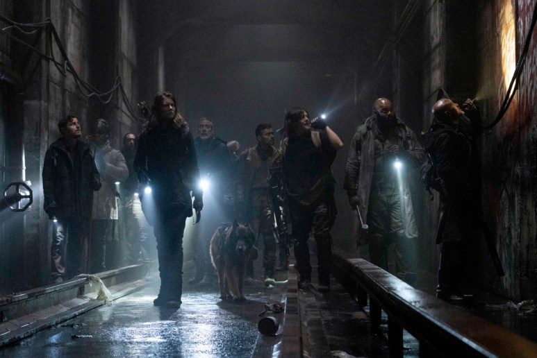 Maggie's group get stuck in a tunnel in Episode 1 of AMC's The Walking Dead Season 11