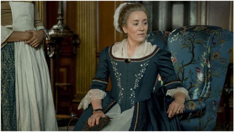 Maria Doyle Kennedy stars as Aunt Jocasta in Starz's Outlander