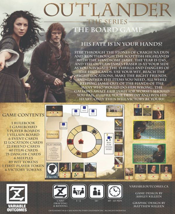 Outlander: The Series is a board game that follows the hit historical drama series