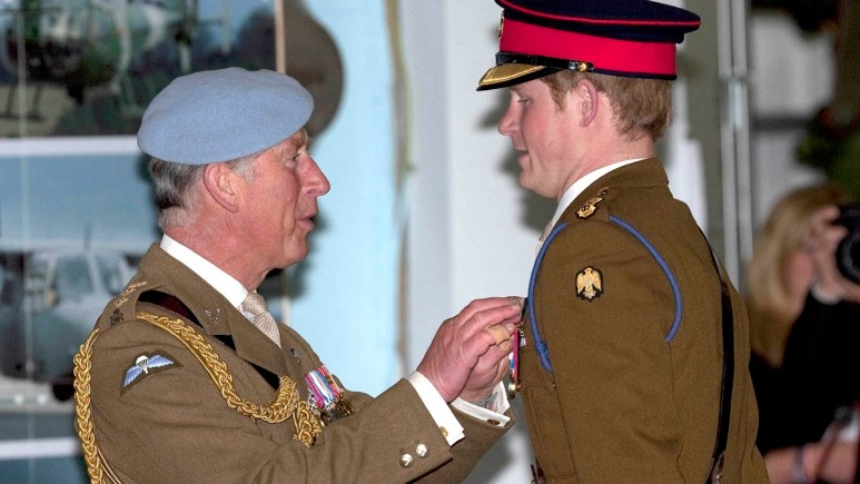 Prince Harry and Charles at a royal event
