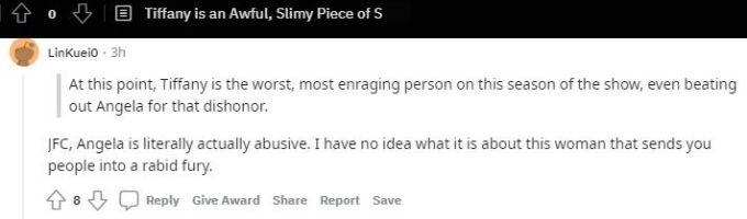 Reddit thread about Tiffany Franco