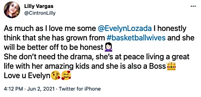 Twitter fans react to Evelyn Lozada's departure from Basketball Wives