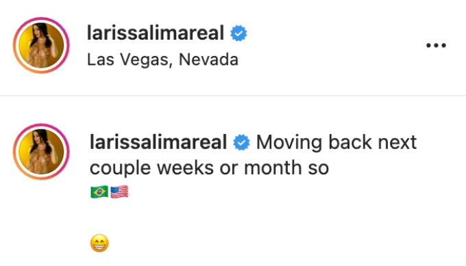 Larissa posts about moving