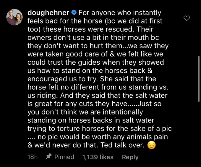 Doug Hehner writes a statement defending his photo with Jamie Otis