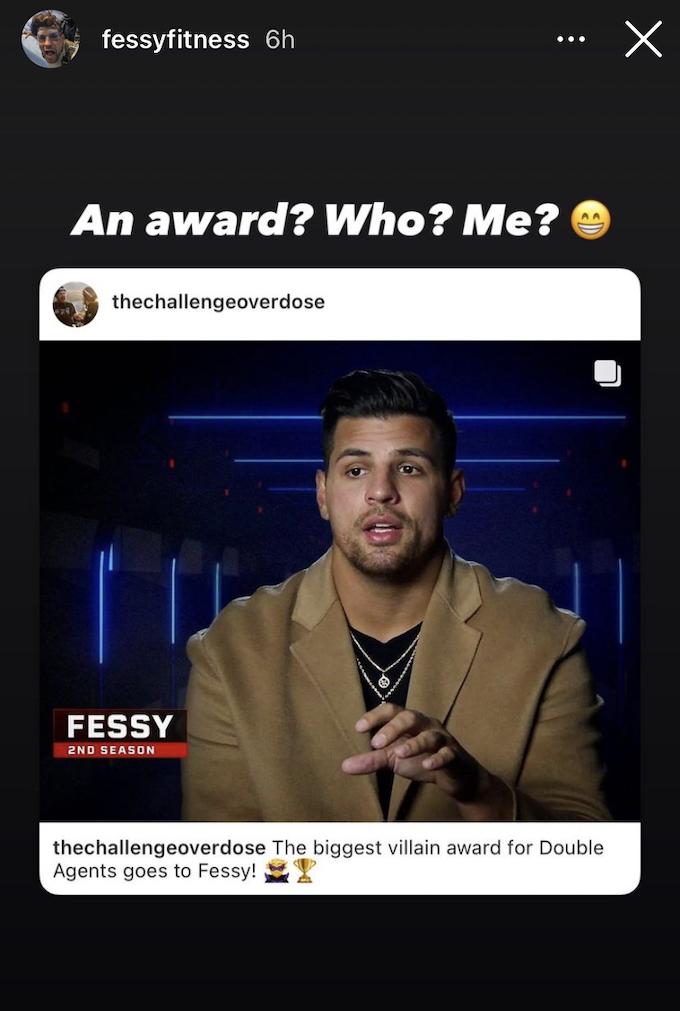fessy shafaat reacts to winning biggest villain on instagram