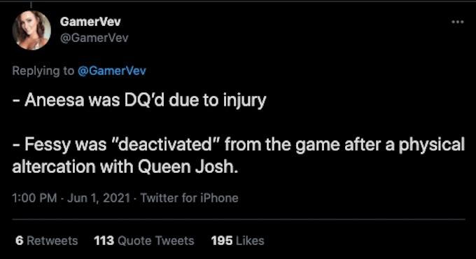 challenge insider gamervev tweets about season 37 exits