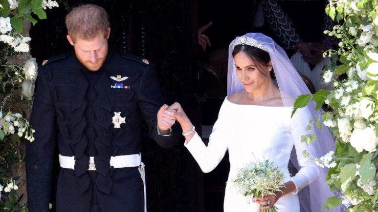 Harry and Meghan at their wedding