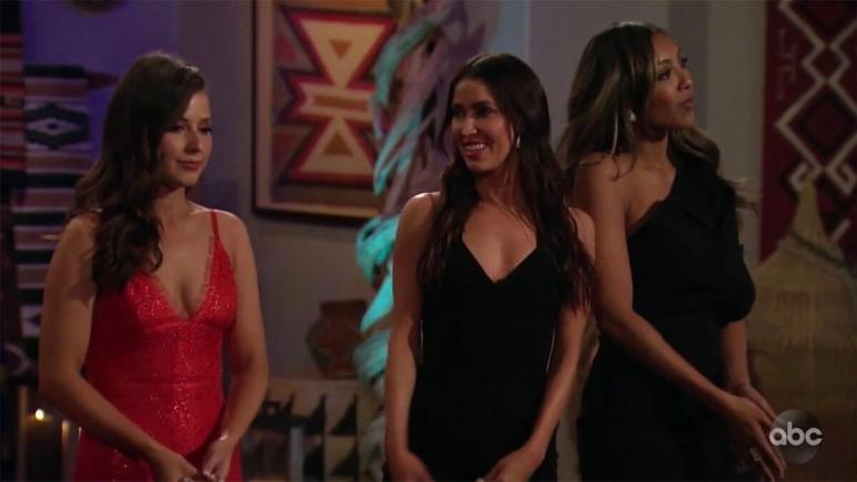 Katie Thurston with Kaitlyn Bristowe and Tayshia Adams