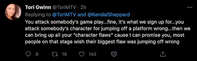 the challenge star reacts to kendal sheppard all stars reunion absence