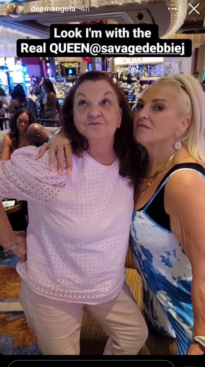 debbie johnson and angela deem hang out in las vegas