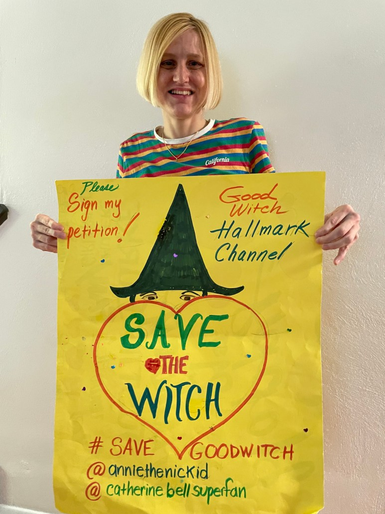 TikTok star Annie Lenck has asked her 106,000 followers to sign the petition to save Hallmark Channel's Good Witch.