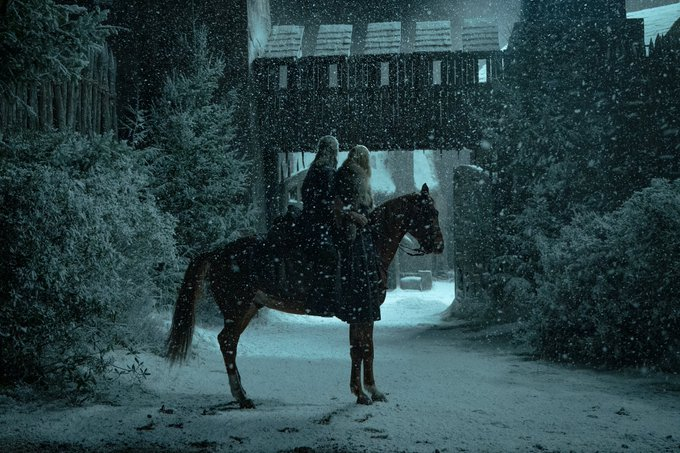 Henry Cavill as Geralt of Rivia and Freya Allan as Ciri, as seen in Season 2 of Netflix's The Witcher