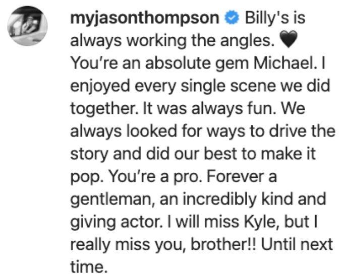 Jason says goodbye to Michael.