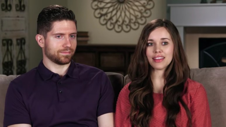 Jessa Duggar and Ben Seewald in a confessional.