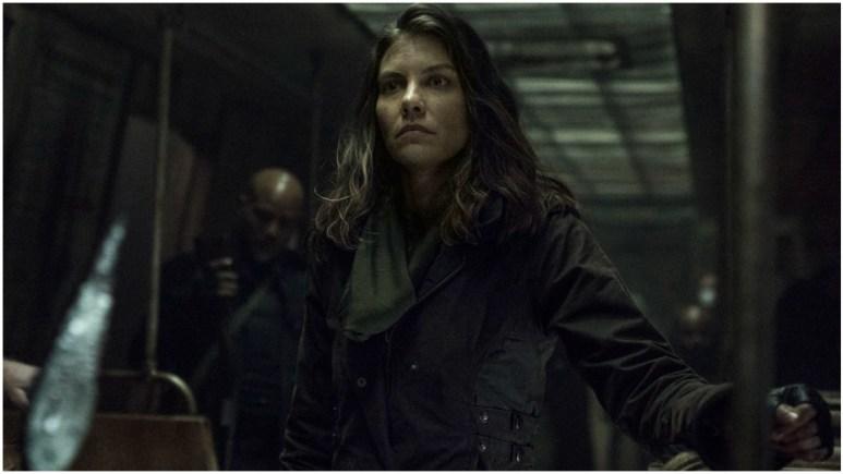 Lauren Cohan stars as Maggie Rhee, as seen in Season 11 of AMC's The Walking Dead