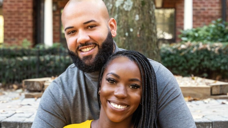 MAFS Briana and Vincent smile for promo picture