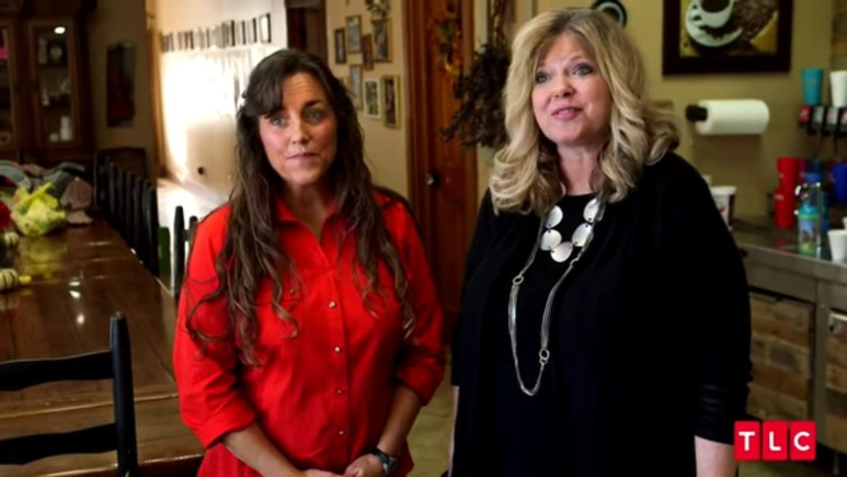 Michelle and Deanna Duggar filming with TLC.