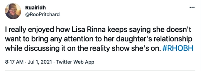 Viewer slams Lisa Rinna for bringing up Scott Disick and her daughter Amelia
