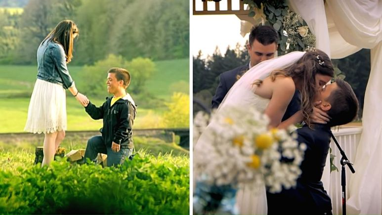 tori and zach roloff engagement and wedding kiss on tlc