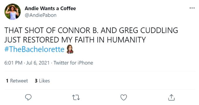 Tweets about Connor and Greg's friendship