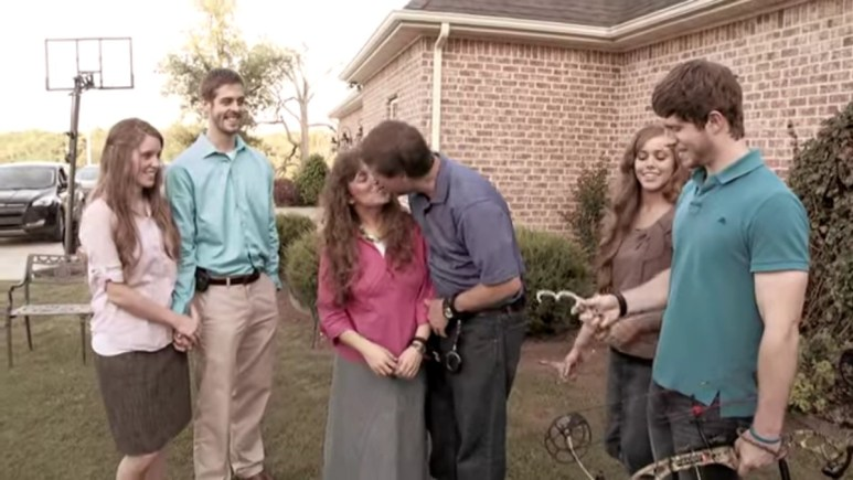 Jim Bob and Michelle Duggar with their kids.