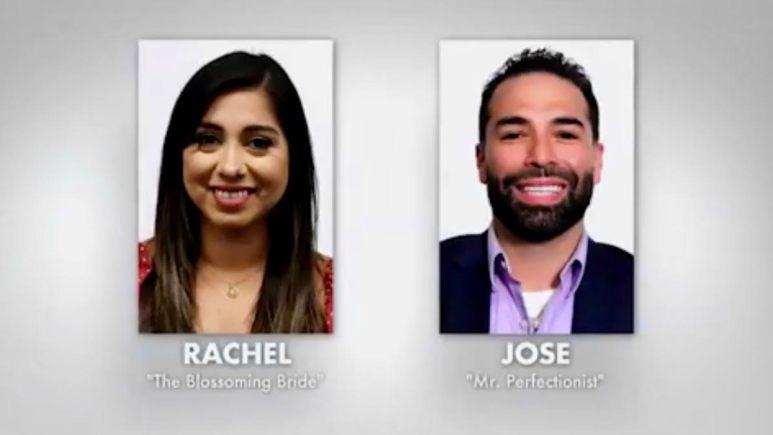 Jose and Rachel's portrait photos set side by side