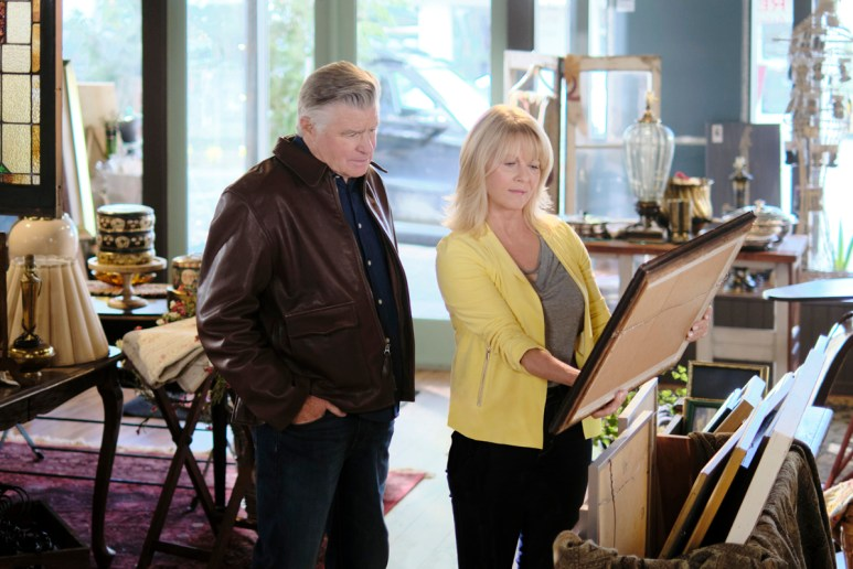 Treat Williams and Barbara Niven on the set of Chesapeake Shores
