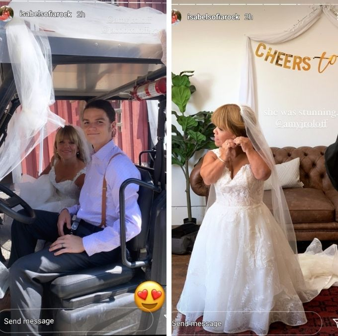 jacob roloff's wife isabel shared some pics of the wedding on instagram
