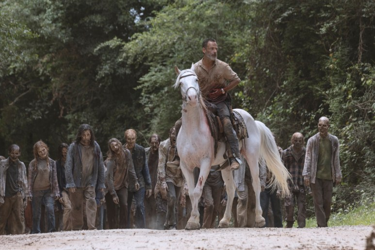 Andrew Lincoln as Rick Grimes, as seen in Episode 5 of Season 9 of AMC'S The Walking Dead