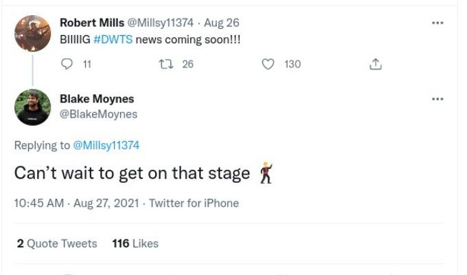 Blake Moynes comment to Robert Mills.