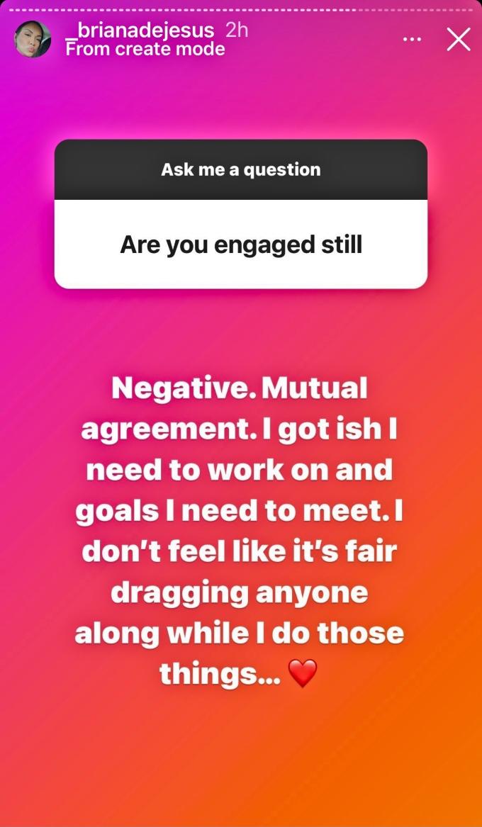 Briana DeJesus says breakup with Javi Gonzalez was mutual