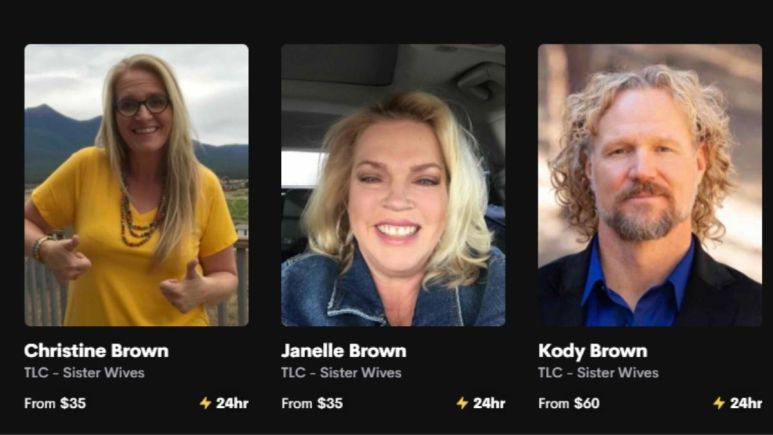 christine, janelle and kody brown on cameo