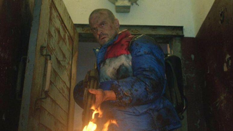 Screenshot of David Harbour in Stranger Things 4.