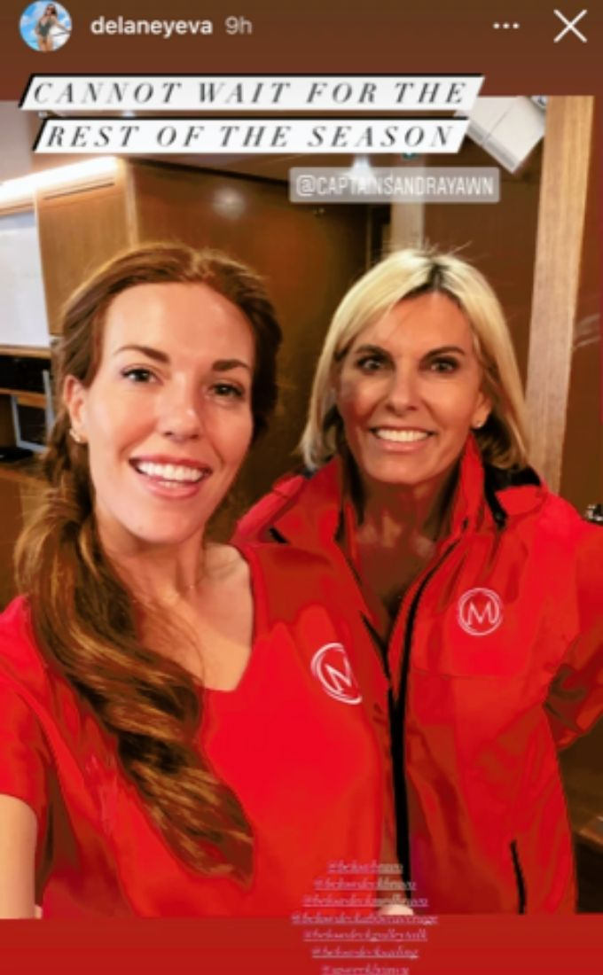 Captain Sandy Yawn and new Below Deck Med addition Delaney
