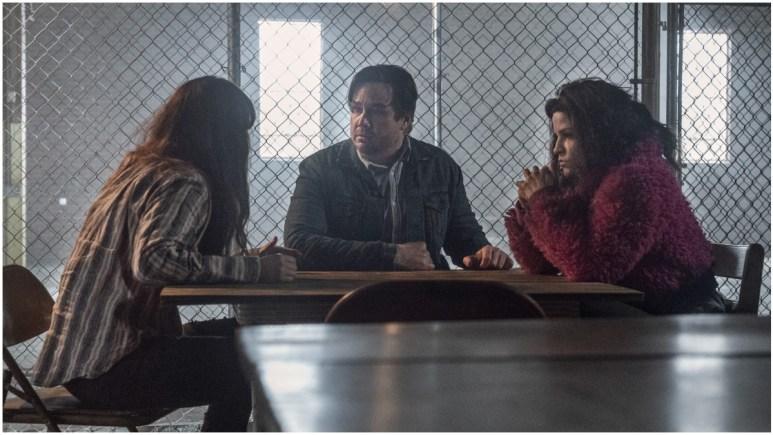 Eleanor Matsuura as Yumiko, Josh McDermitt as Eugene, and Paola Lazaro as Princess, as seen in Episode 2 of AMC's The Walking Dead Season 11