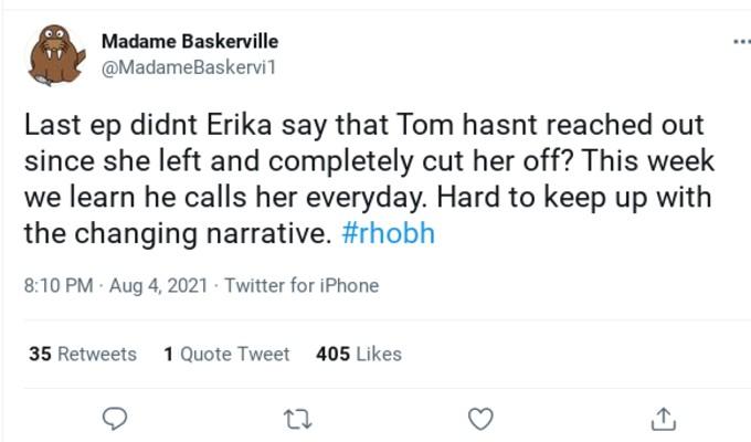 RHOBH viewers called out Erika Jayne.