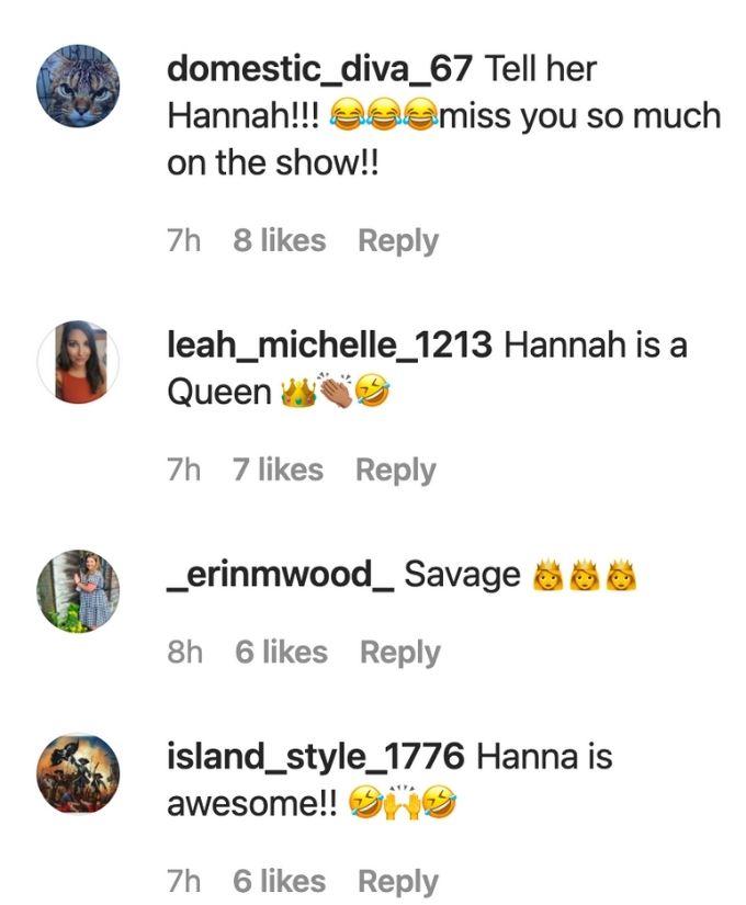 Fans love Hannah