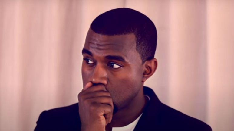 Screenshot of Kanye West in music video