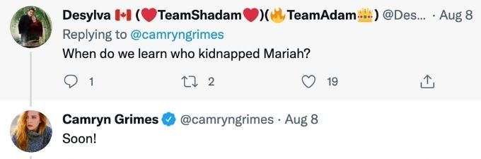 Who kidnapped Mariah on Y&R?
