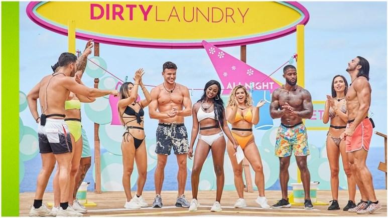 Love Island USA Islanders playing Dirty Laundry