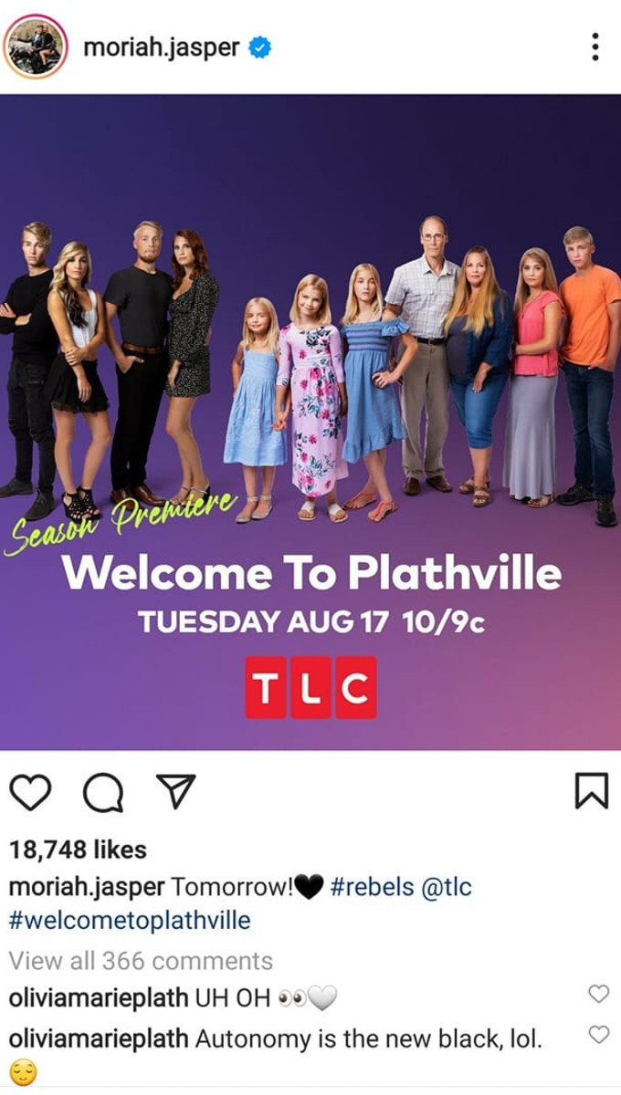 Moriah shared the Welcome to Plathville poster.