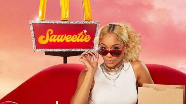Image of Saweetie's McDonalds advertisement