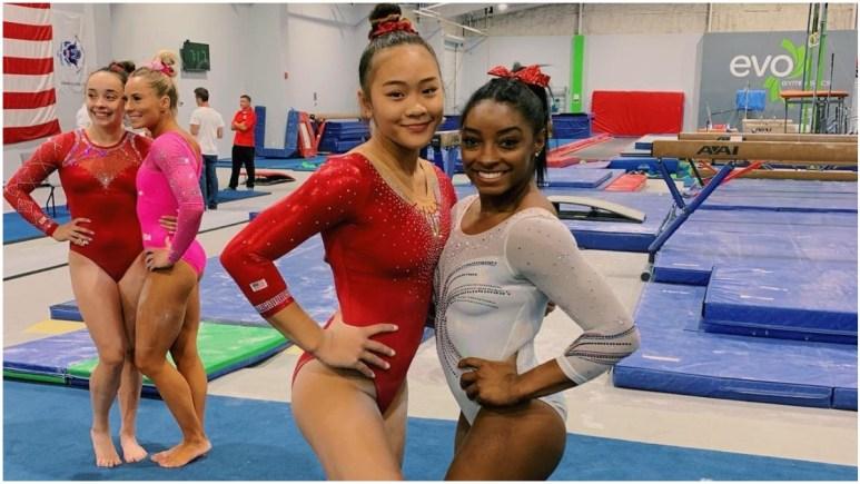 Sunisa Lee and Simone Biles