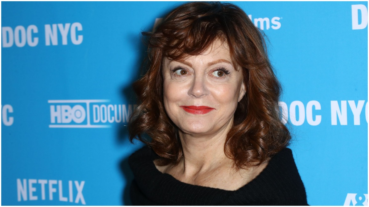 """Susan Sarandon at the premiere of """"Soufra"""" during the 2017 DOC NYC Festival held at the SVA Theatre"""