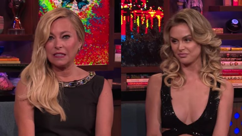 Sutton Stracke and Lala Kent on WWHL.