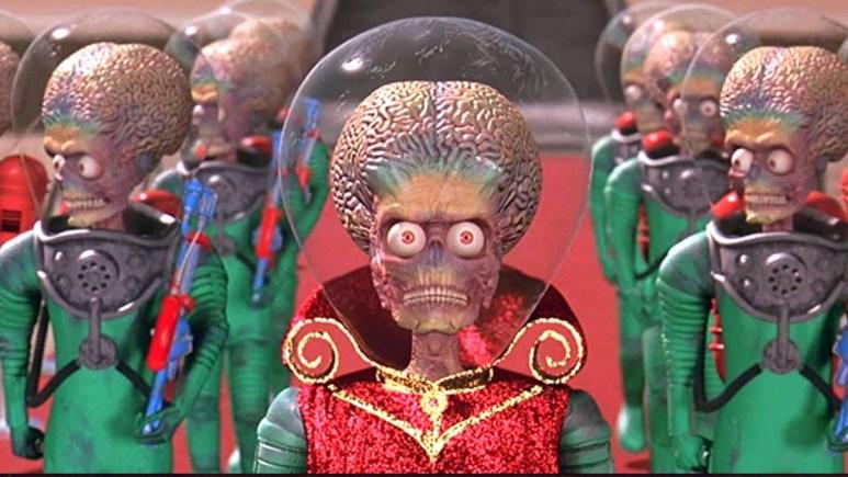 The Martians in Tim Burton's Mars Attacks